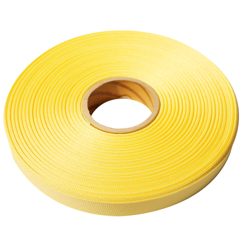 6.리본_골직(Grosgrain)_5mmx50yd_G6_연노랑(Pale-Yellow)